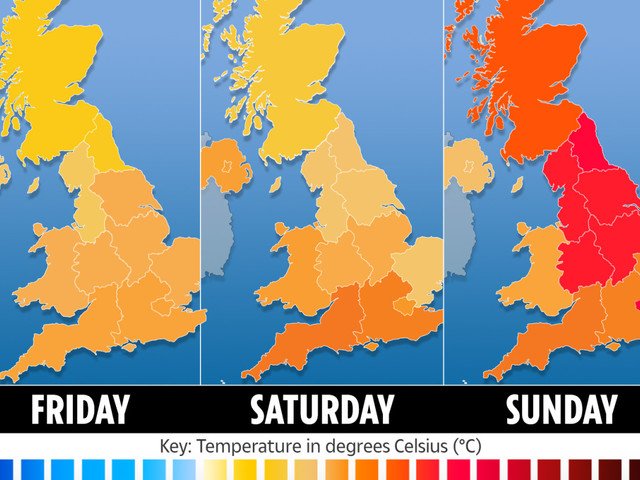 UK weather forecast – Heatwave set to see Britain as hot as Corfu with sun and 20C temperatures