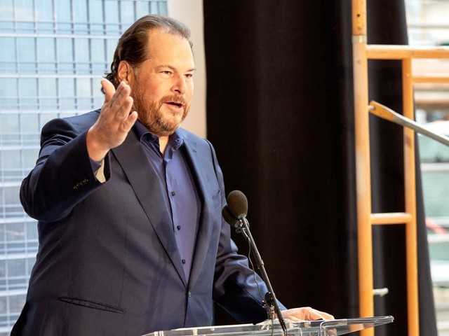 Salesforce billionaire Marc Benioff says basic income will be part of our future and that he wishes the US had sent 10 N95 masks along with stimulus checks