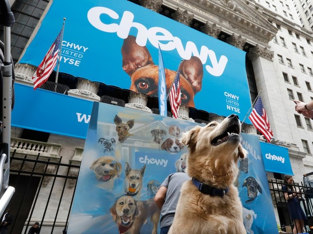 Chewy slips after its inaugural earnings report as investors wonder if the stock is too expensive (CHWY)