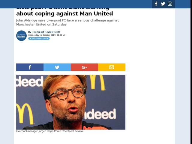 Liverpool FC sent blunt warning about coping against Man United