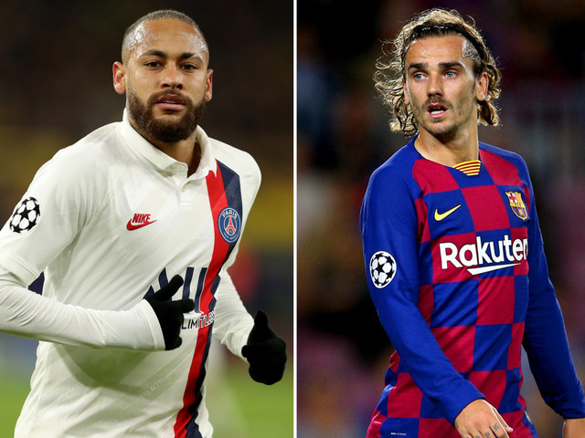 PSG 'finally ready to sell Neymar to Barcelona but demand Griezmann as part of transfer' as they plot squad overhaul
