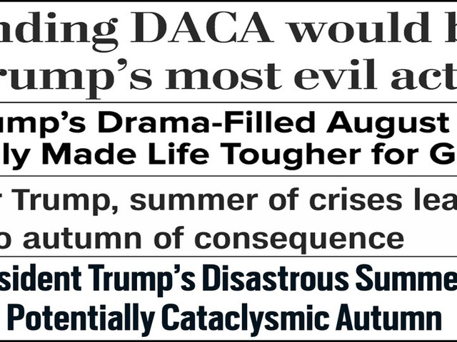 Abbreviated pundit roundup: DACA, the fall agenda and more