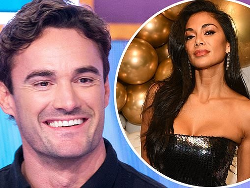 'Who wouldn't want to date Nicole?': The X Factor: Celebrity's Thom Evans is quizzed on Scherzinger