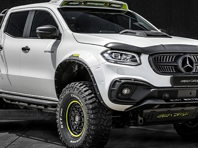 Mercedes X-Class Gets Pickup Design Widebody Kit With Carbon and Carlex Interior