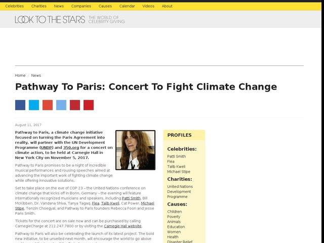 Pathway To Paris: Concert To Fight Climate Change