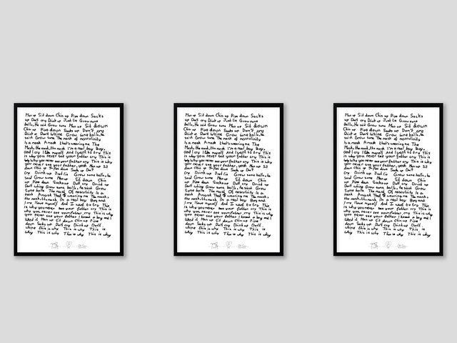 Buy a limited edition print based on IDLES' Samaritans created by Jeremy Deller