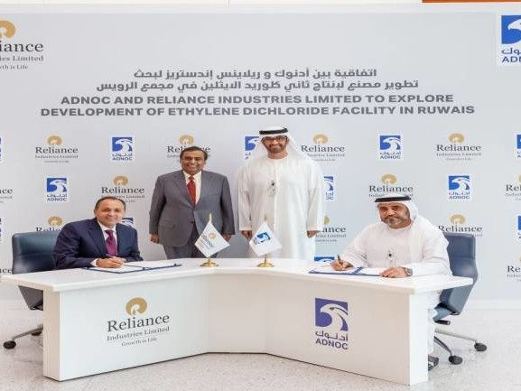 Reliance Industries signs pact with ADNOC for development of chemical facility