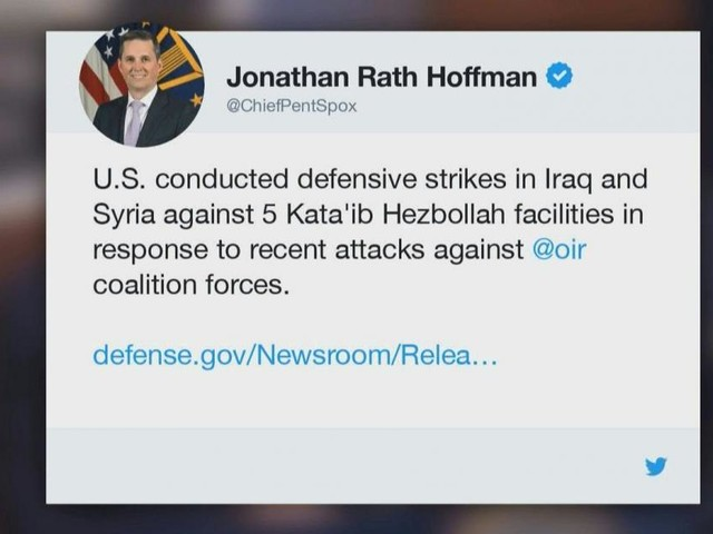 US hits pro-Iran group with deadly strikes in Iraq, Syria