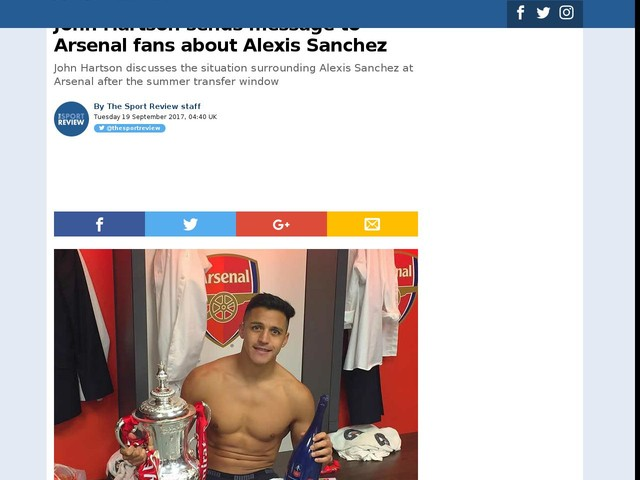 John Hartson sends message to Arsenal fans about Alexis Sanchez