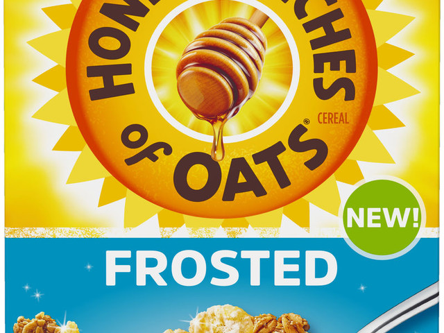 Frosted Oat Cereals - Post's New Honey Bunches of Oats Frosted Cereal is Extra Sweet (TrendHunter.com)