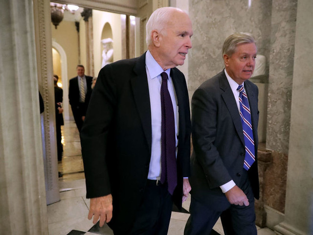White House all in for repeal; Pence to tell Senate GOP: 'This is the moment'; McCain wavering?