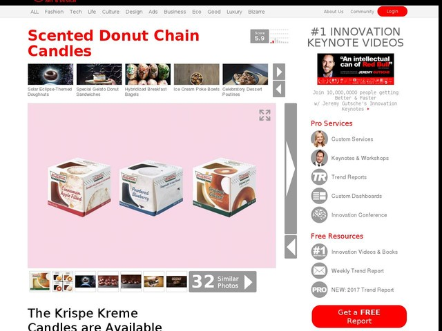 Scented Donut Chain Candles - The Krispe Kreme Candles are Available in Three Scents (TrendHunter.com)