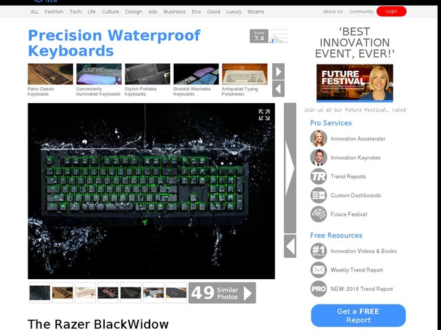 Precision Waterproof Keyboards - The Razer BlackWidow Ultimate Gaming Keyboard is Fiercely Rugged (TrendHunter.com)