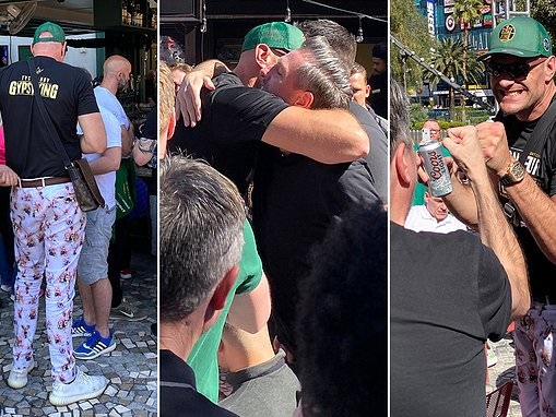 Tyson Fury buys the drinks in Las Vegas after heavyweight world title victory over Deontay Wilder