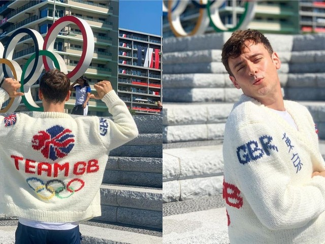 Olympics 2021: Tom Daley reveals Team GB cardigan after week knitting in the stands in Tokyo
