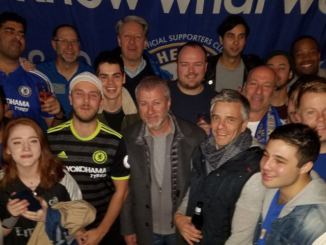 Chelsea owner Roman Abramovich watches win over West Brom with supporters' club in New York City