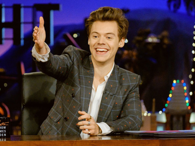 Harry Styles Talks About James Corden's Newborn Baby During 'Late Late Show' Monologue!
