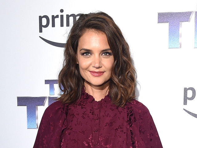 Katie Holmes Supports Peter Serafinowicz at 'The Tick' Premiere