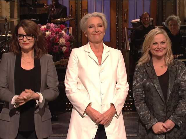 Emma Thompson Recruits Tina Fey and Amy Poehler for SNL Mother's Day Tribute