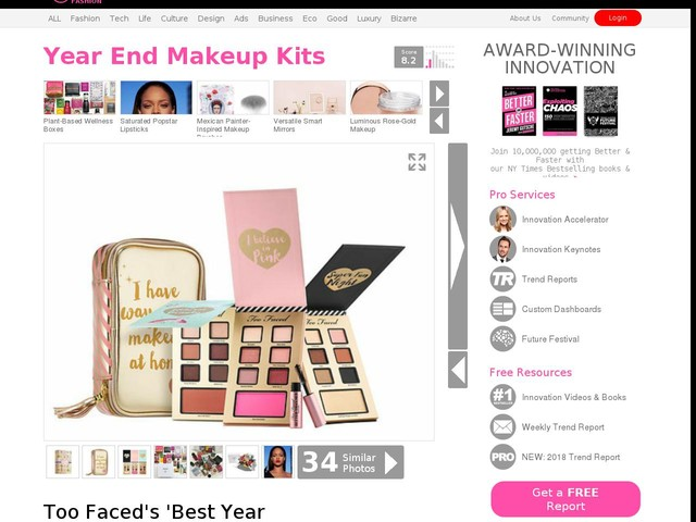 Year End Makeup Kits - Too Faced's 'Best Year Ever' Kit Features Three Eyeshadow Palettes (TrendHunter.com)