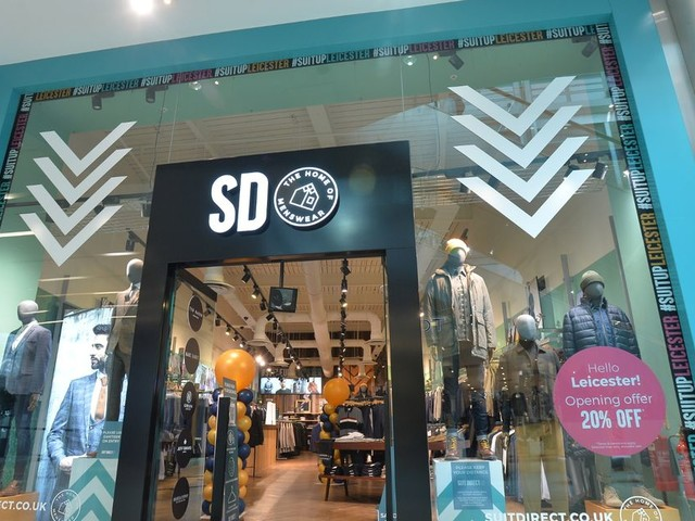 Inside new Highcross clothing store which has just opened