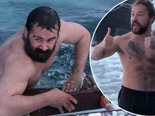 Colin Farrell and Stephen Graham brave Arctic Sea in behind-the-scenes stills from The North Water