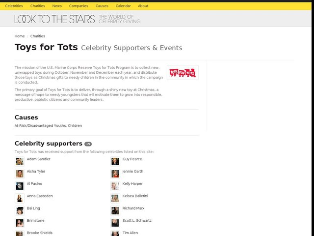 Spotlight: Toys for Tots's Celebrity Supporters