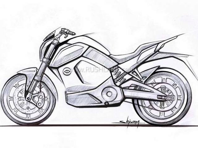 Revolt electric motorcycle is made in India – First teaser sketch revealed