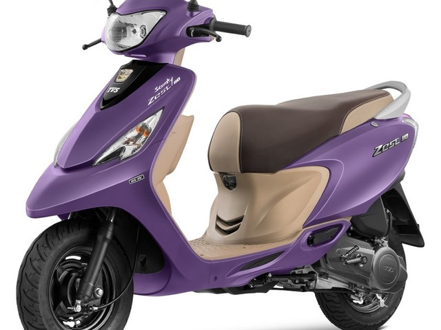 TVS Scooty Zest 110 Matte Purple Launched