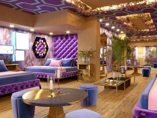 Inside the Big Brother themed hotel suite complete with a diary room and CCTV