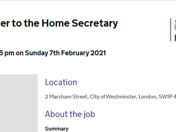'Bullying is not tolerated' says Home Office job ad for Priti Patel's speechwriter