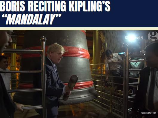 """Boris Reciting Kipling's """"Mandalay"""""""