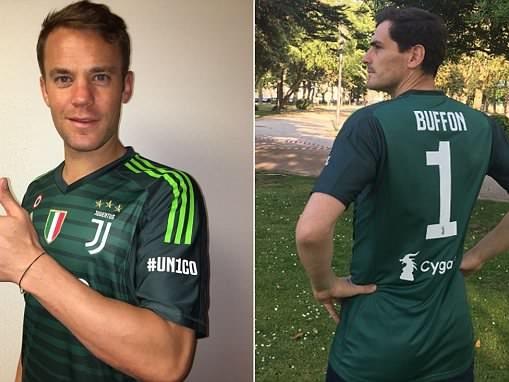 Manuel Neuer and Iker Casillas pay homage to legendary goalkeeper Gianluigi Buffon