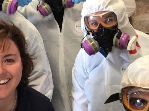 A former police officer turned a side hustle cleaning up crime scenes into a multimillion-dollar franchise — and now she's taking on cleaning up the coronavirus pandemic