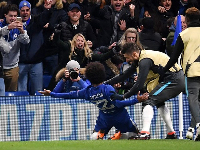 Willian nominated for Champions League Player and Goal of the Week