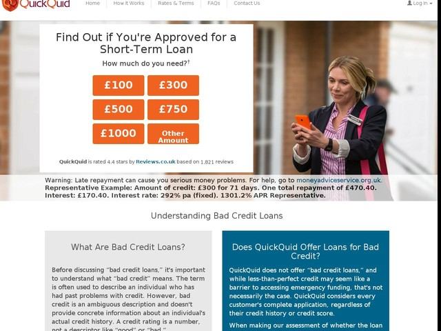 Bad Credit Loans - Understanding Credit - QuickQuid