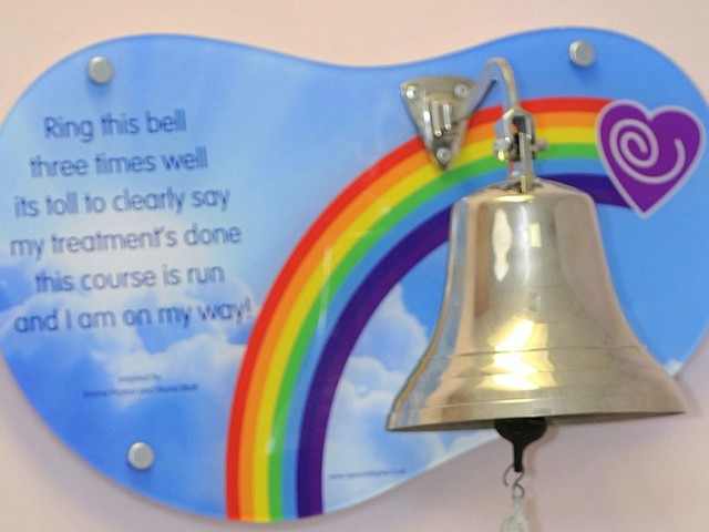 Hospital removes 'cruel' bell rang by patients at end of their cancer treatment
