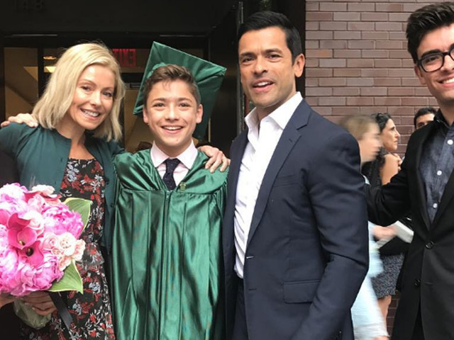 Kelly Ripa & Mark Consuelos Celebrate Their Son's Middle School Graduation!