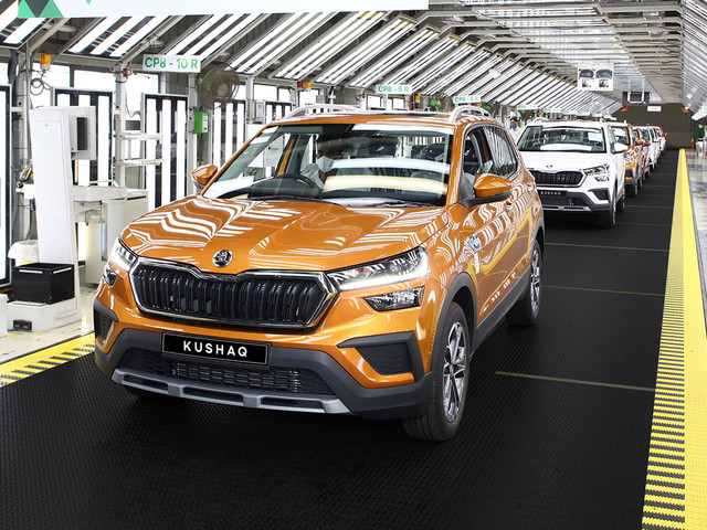 Skoda Kushaq India production begins ahead of launch