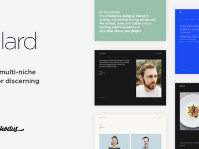 Ballard - Responsive CV WordPress Theme (Creative)