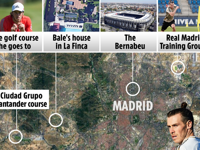 Inside Bale's millionaire lifestyle in Madrid, with a £6.5m home, £230,000 Ferrari and golf on his doorstep
