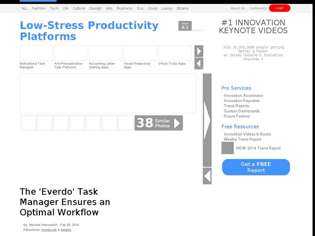 Low-Stress Productivity Platforms - The 'Everdo' Task Manager Ensures an Optimal Workflow (TrendHunter.com)