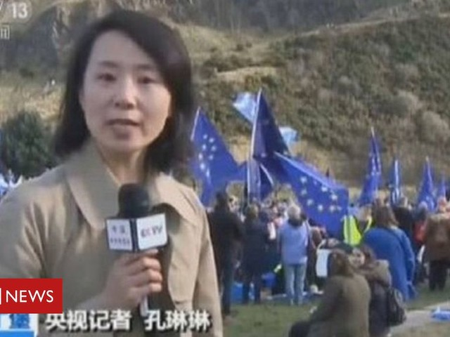 Chinese journalist Kong Linlin faces arrest over 'Tory slap' claim