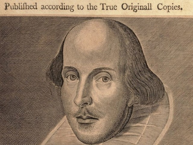 Shakespeare's First Folio in Stonyhurst College museum display