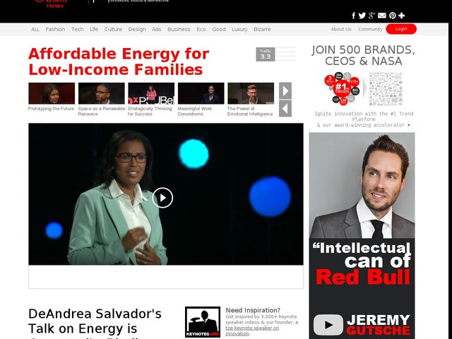 Affordable Energy for Low-Income Families - DeAndrea Salvador's Talk on Energy is Community-Binding (TrendHunter.com)