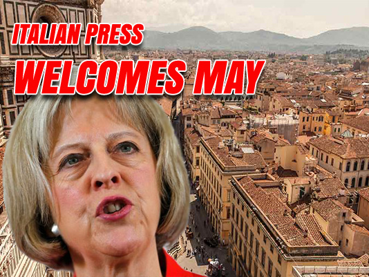 """Italians on Board With May Speech, Call For Brussels to End """"Punitive Approach"""""""