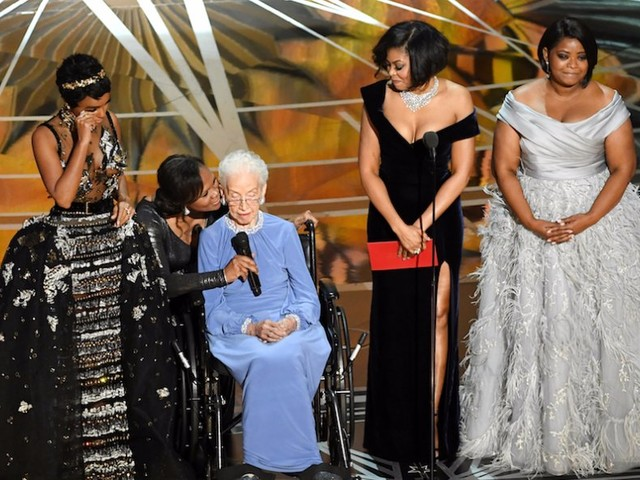 Watch the heartwarming moment a 98-year-old NASA mathematician was honored at the Oscars