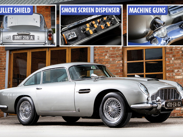 Iconic Aston Martin from James Bond's Goldfinger and Thunderball sells for £5.2million – and it has machine guns, tyre slashers and bullet-proof glass