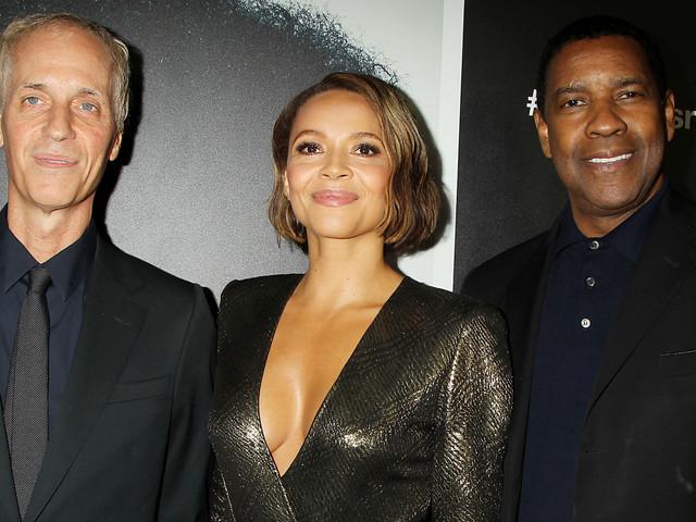Denzel Washington & Carmen Ejogo Attend 'Roman J. Israel' Screening in NYC