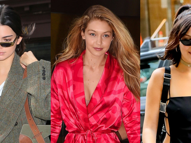 Kendall Jenner, Gigi & Bella Hadid Show Off Their NYFW Street Style